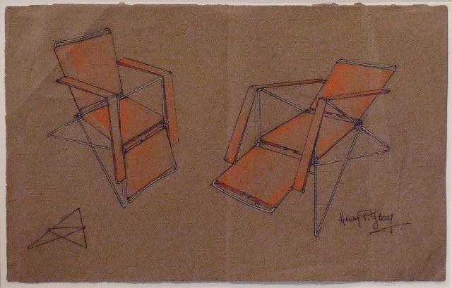 Эскиз кресла на ножках шпильках